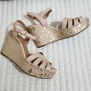 Clarks Shoes - Clarks Artisan Floral Print Wedge Sandals Amelia